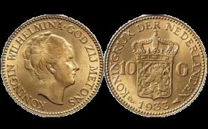 10 gulden, gouden tientje verkopen
