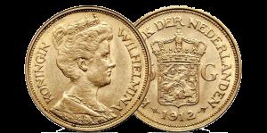 Gouden 5 gulden 1912. Verkoop en inkoop goud