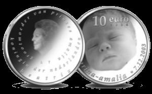 Geboortemunt Amalia 10 euro