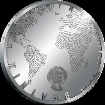 Zilveren vijf Euromunt-0